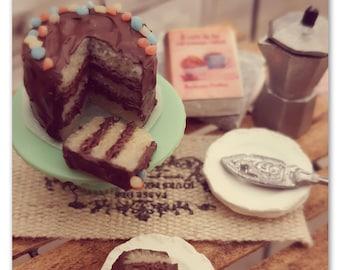 Fun Chocolate cake 1/12 scale