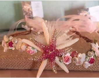 Xo bouquets beach wedding headpiece grapevine headband