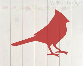 Cardinal SVG, PNG, DXF files, instant download