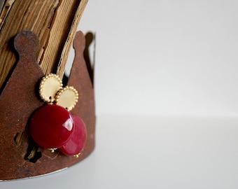 Bordeaux earrings, agate gemstone earrings, wedding jewels