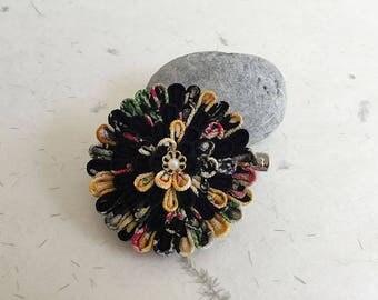 Tsumami flower hair clip corsage brooch CBC004