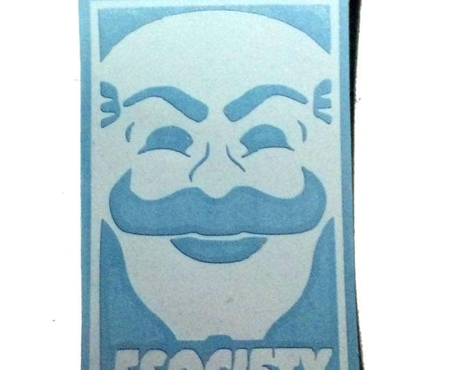 Mask FSociety Decal,  Mr. Robot vinyl decal, Mr. Robot Car Sticker