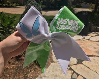 Tinkerbell Peter Pan Inspired Cheer Bow