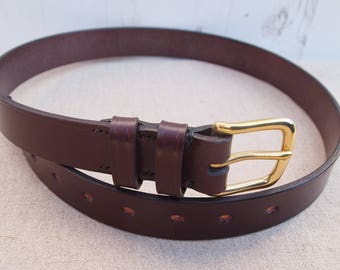 Hand Stitched Leather Belt - Sedgwick Leather - West End Buckle
