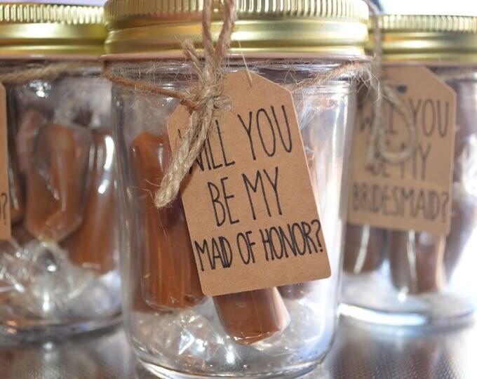 Artisan, Fleur de Sel Caramels Bridemaid Gift Jar, 3oz.