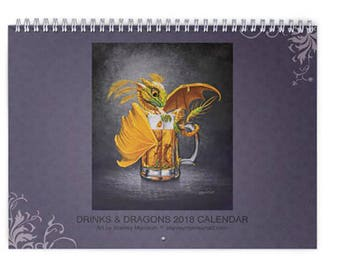 2018 Drinks & Dragons Wall Calendar