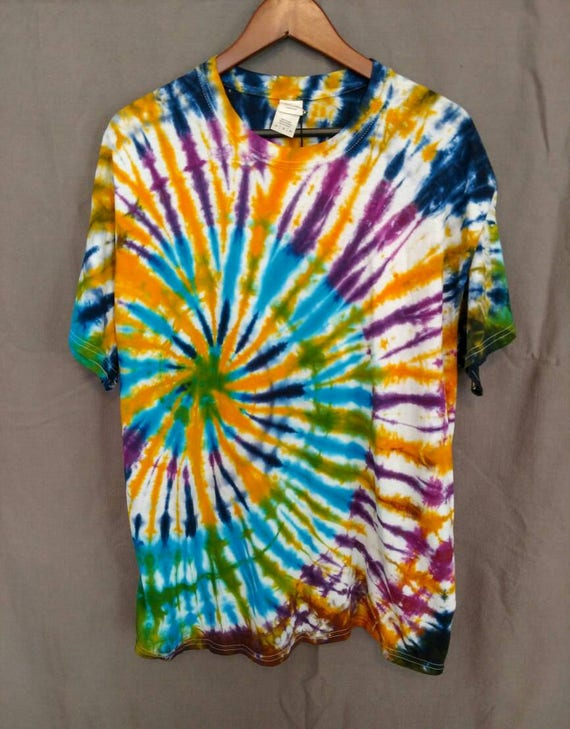 Spiral Tie Dye Shirt/Adult Tie Dye T-Shirt/Hand Dyed/Eco-Friendly Dying
