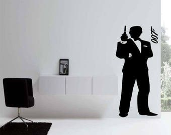 EVERYTHING IS 20% OFF James Bond 007 Wall Decal