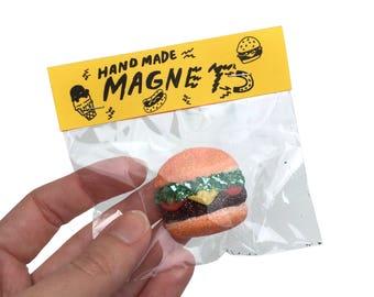 Glitter Burger Magnet