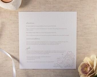 FLORENCE // Wedding Stationery // Additional Information