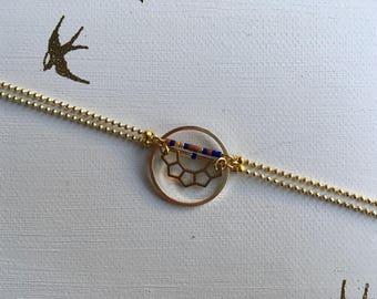 Colomba - Bracelet ethnique rang de miyuki et polygones
