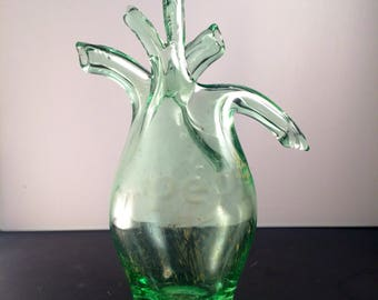 Hand Blown Anatomical Heart made from Recycled Dr. Pepper Bottle