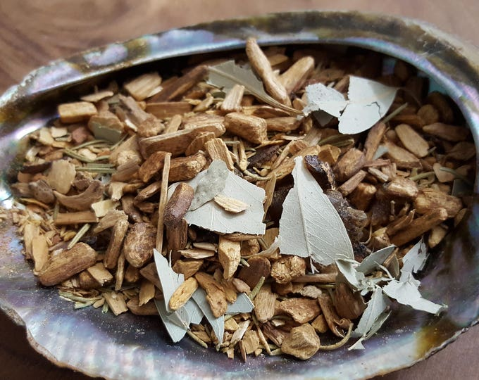 Sahumerio Blend smudge/incense, Palo Santo smudge mix, Reiki infused 1/2 ounce