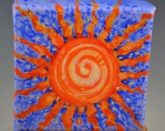 Mini Sun totem painting-nature spirits