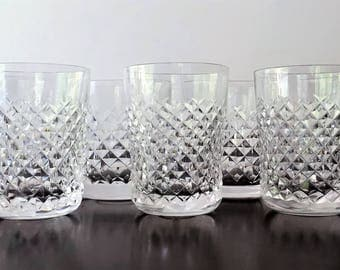 RARE Sizes Waterford Powerscourt Tumbler Old Fashioned Set-Seven 8oz and 6oz