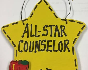 Teacher Gift 7001  All Star Counselor Handmade