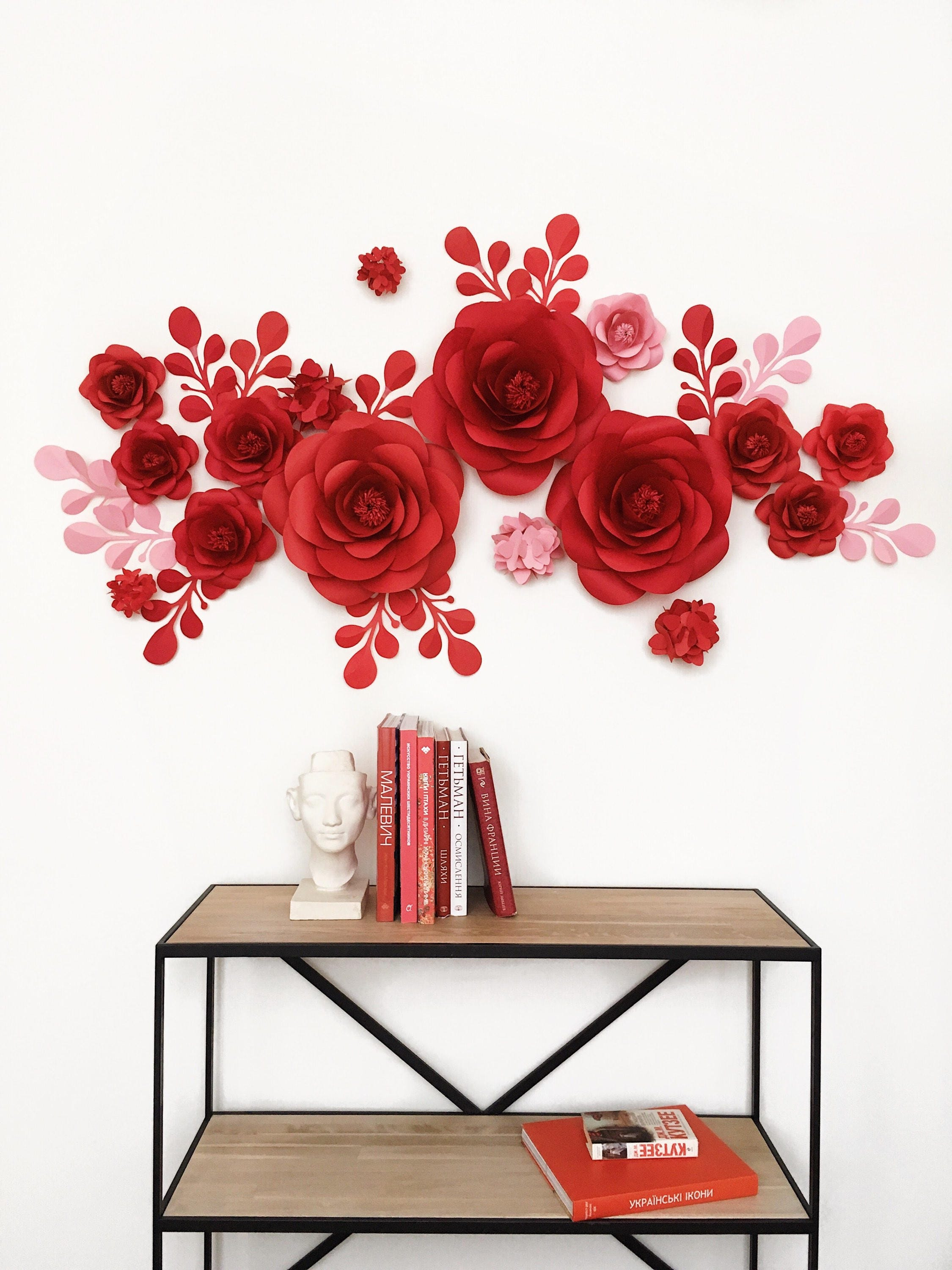 Excellent Set of Paper flowers for Wall Decor - Baby Girl room decor  OC13