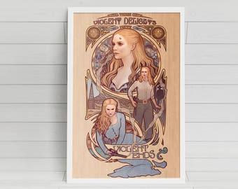 """Violent Delights - Westworld inspired Poster - 11""""x17"""""""