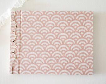 Pink notebook, Notebook japanese handmade bookbinding, notebook, travel notebook, stationery, sketchbook, traditional japanese