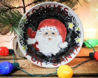 Christmas Santa Cookie Plate
