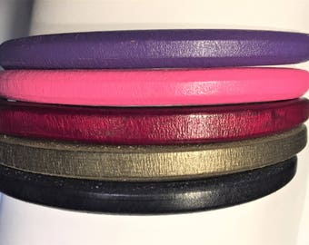 "Shorts: 5 Strands licorice leather bundle, 6"" each, Colors as shown, #1 bundle"