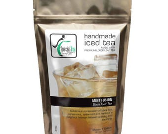 Mint Fusion Organic Black Iced Tea Makes One Gallon
