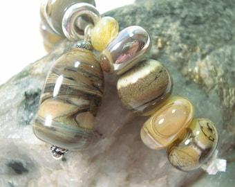 Handmade  Lampwork  Beads, Lampwork Glass Beads, 9 Artisan Lampwork Beads, B86.