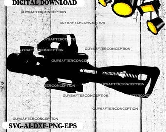 Rifle Scope Vector Images SVG Files Digital Cutting Files  Ai - Eps - PNG - DXF - Svg - A2