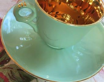 Figgjo Flint Green Espresso Cup and Saucer