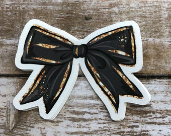 Black and Gold Bow Die Cut