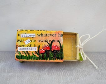 believe in something upcycled matchbox