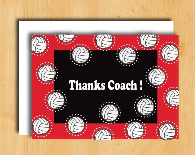 Thank you Card for Coach | Coach Thanks Card | Coach Thank You | Coach Appreciation Card