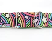 Rainbows, Hearts, and Stars, Oh My! Dog Collar (Martingale, Buckle or Tag)