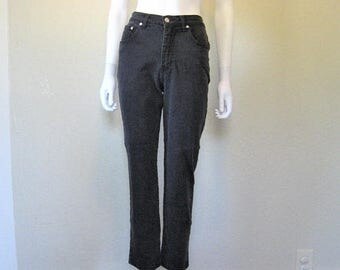 "25% off SALE Faded Black stretch denim 90s pants - 26"" waist"
