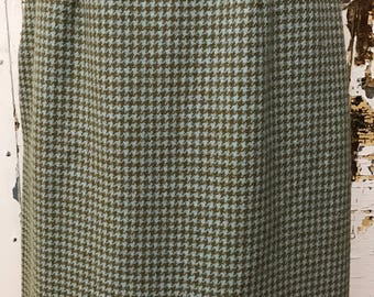 1950's Wool Houndstooth Pencil skirt