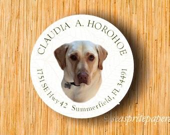 CUSTOM Personalized return address label/custom pet labels/labrador retriever labels/