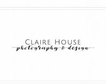 ON SALE Premade Logo / Photography Logo / Photography Logo Design / Logo Designs / Photography Logo Watermark / Logo Design