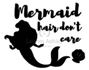 Mermaid Hair Don't Care PNG