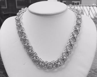 Silver Helm Weave Necklace