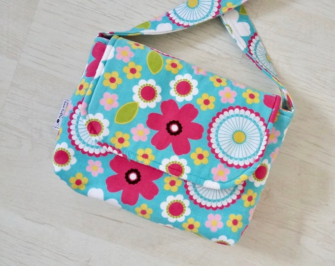 Flower Power Mini Messenger with matching strap