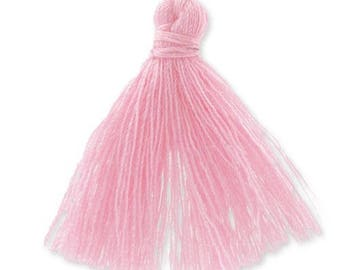 30mm baby pink cotton tassel