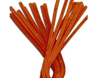 10 x ORANGE thread chenille pipe cleaner 30cm