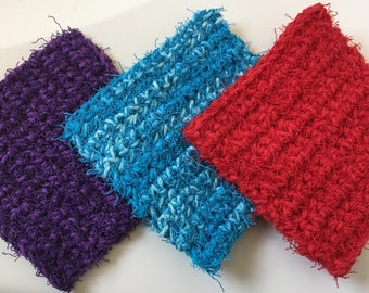 Set of 2 Ultimate Dish Scrubbies, My Favorite Scrubby, Crochet Dish Scrubby
