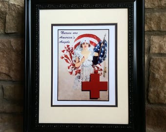 Nurse Vintage Print - Exquisite! SPECIAL OFFER - Any 2nd Print from the shop Half Price  w. purchase
