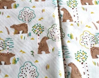Bear small child fabric coupon 50 x 70 cm