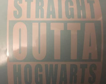 Straight Outta Hogwarts decal, Harry Potter Decal