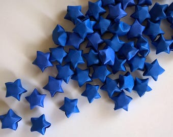 100 Navy Blue Origami Lucky Stars