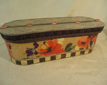 Victorian Large Oval Box - Jewelry, Trinket, Keepsake