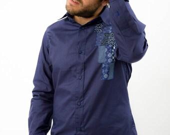 Next Generation Blue Patched Shirt