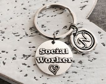 MSW, LSW, Master of Social Work, Masters degree, Social Worker, Professional Jewelry, Silver Jewelry, Graduation, Grad, Silver Keychain